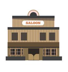 Vintage saloon building vector