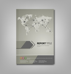 Brochures book or flyer with network connection vector image vector image