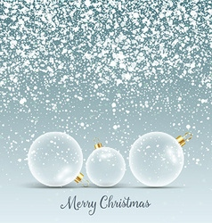 christmas baubles background 3009 vector image vector image