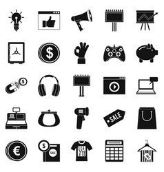 digital distribution icons set simple style vector image