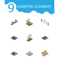 isometric architecture set of path aiming game vector image vector image