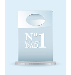 number one dad award vector image