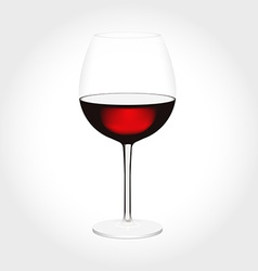 Realistic glass of red wine in vector image vector image