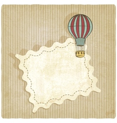 retro background with air balloon vector image vector image