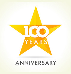 100 anniversary star logo vector