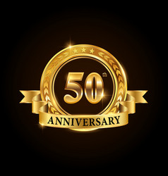 50 years anniversary celebration logotype vector image
