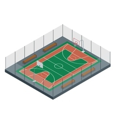 Basketball court Sport arena 3d render vector