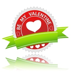Be my valentine sign vector image