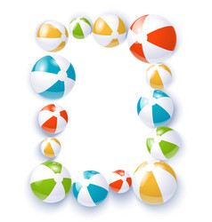 beach balls isolated vector image