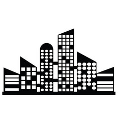 Black city icons vector