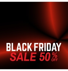 Black friday sale Red waves on the black vector