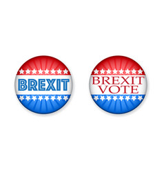 brexit vote symbols color set vector image