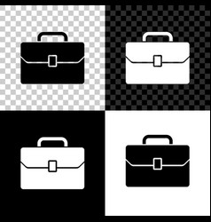 briefcase icon isolated on black white and vector image