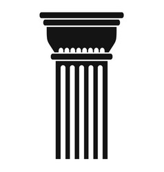 Building column icon simple style vector