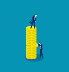 business people and competition concept vector image