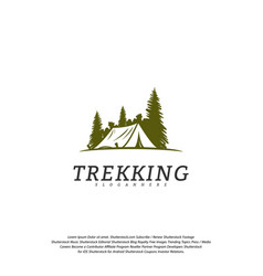 camping logo template outdoor activity symbol logo vector image
