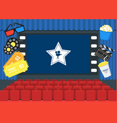 cartoon cinema concept interior card poster vector image vector image