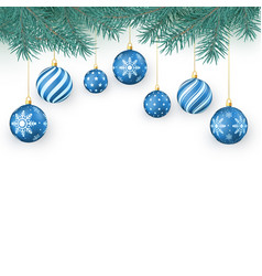 christmas decoration elements isolated on white vector image