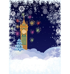 Christmas tower vector image