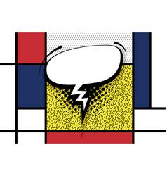 comic text empty speech bubble pop art vector image