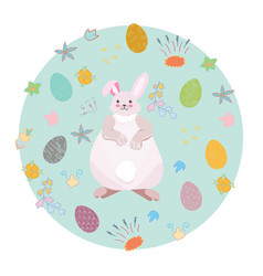 cute easter decoration vector image