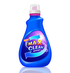 Detergent cleaning packaging design vector