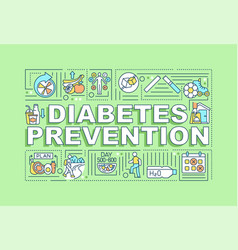 diabetes preventions word concepts banner vector image