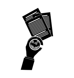 document office icon image vector image
