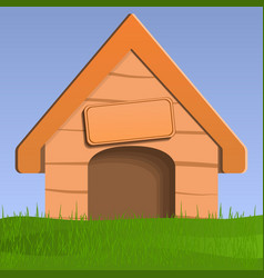 Dog house concept background vector