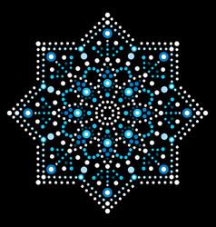 Dot art snowflake - christmas pattern vector