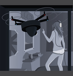 Drone spying and privacy vector