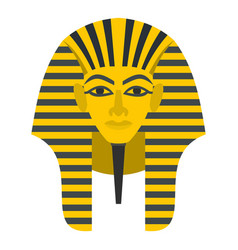 Egyptian golden pharaohs mask icon isolated vector