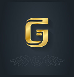 Elegant gold font Letter G Template for company vector