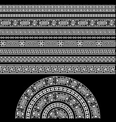 ethnic design set borders decoration elements vector image