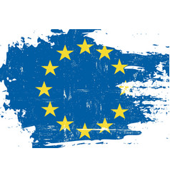 European union scratched flag vector