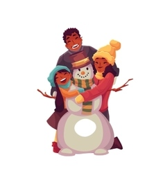 Family portrait of father mother and daughter vector image