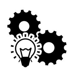 Gears bulb business design vector