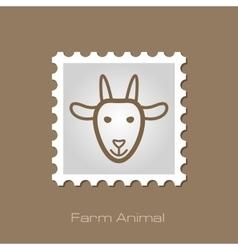 Goat stamp Animal head vector image