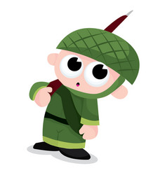 Green army boy vector