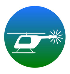 helicopter sign white icon vector image