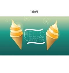 Hello summer creative concept background vector