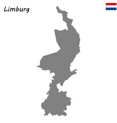 High quality map province of netherlands vector