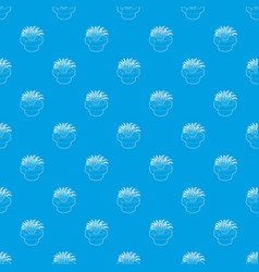 home plant pattern seamless blue vector image