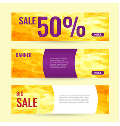 horizontal summer web banner summer big sale vector image