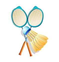 Icon badminton vector