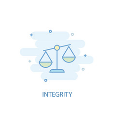 Integrity line concept simple line icon colored vector