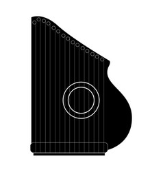 Isolated zither icon musical instrument vector