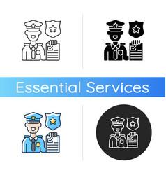 law enforcement icon vector image