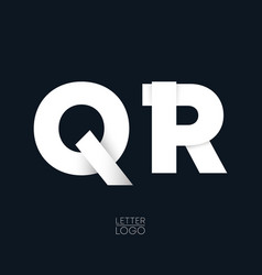letter q and r template logo design vector image