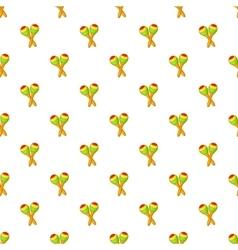 Maracas pattern cartoon style vector